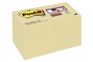 Bloczki 3M POST-IT 47,6x47,6mm żółte 12x90k Super Sticky 70005258978
