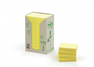 Bloczki 3M POST-IT 653-1T 38x51mm żółte po 100k UU009543974