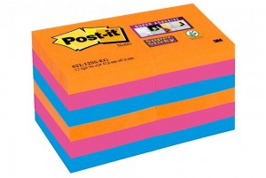 Bloczki 3M POST-IT 51x51mm BANGKOK 12x90k Super Sticky 70005252104