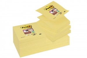 Bloczki 3M POST-IT Z-Notes żółte 76x76mm 90k Super Sticky 70005197796