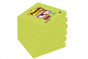 Bloczki 3M POST-IT 76x76mm zielone Super Sticky 6x90kartek 654-6SS-AW-EU