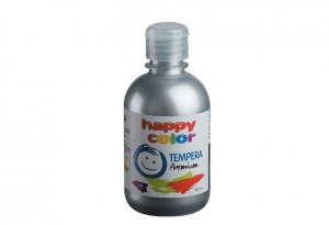 Farba TEMPERA Premium 300ml srebrny HAPPY COLOR 3310 0300-81