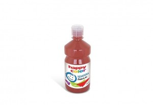 Farba TEMPERA Premium 500ml brązowa HAPPY COLOR HA 3310 0500-7