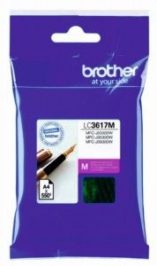 Tusz BROTHER (LC3617M) purpurowy 550str