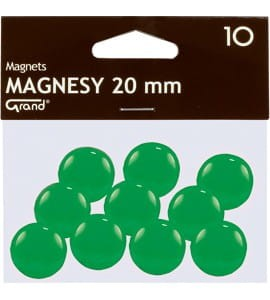 Magnesy 20mm zielone(10) 130-1692 GRAND