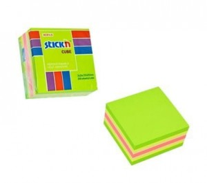 "Bloczek STICK""N 51x51mm zielony-mix neon i pastel 21534"