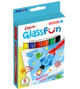 Kredki do szkła AMOS FUN GLASS GF6P 6 kol. 170-2296