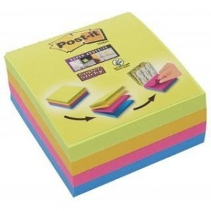Bloczek POST-IT 76x76mm mix 4x75kol Super Sticky 2014-SC-BYFG UU003083563