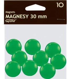 Magnesy 30mm GRAND zielone   (10)^ 130-1697
