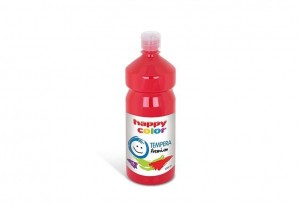 Farba TEMPERA Premium 1000ml czerwona HAPPY COLOR 3310 1000-2