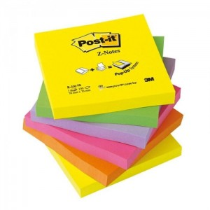 Bloczki 3M POST-IT Z-Notes 76x76mm neonowe 6x100k R330-NR UU009543198