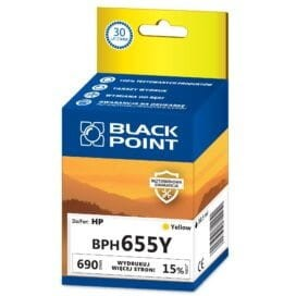 Tusz BLACK POINT BPH655Y HP 655 (CZ112AE) żółty