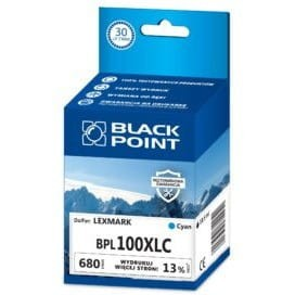 Tusz BLACK POINT LEXMARK 14N0900E (BPL100XLC) niebieski