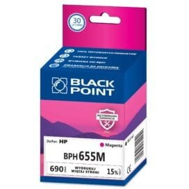 Tusz BLACK POINT BPH655M HP 655 (CZ111AE) purpurowy